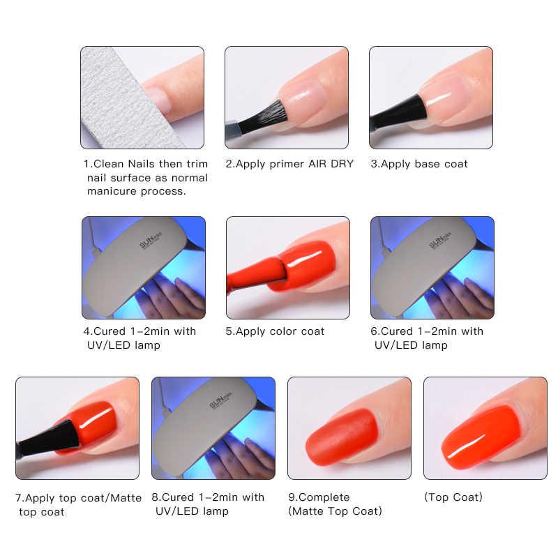 เล็บ Vision 5ml UV GEL เล็บฐานเคลือบเล็บเจล Primer Long Lasting Soak Off UV LED เจลเล็บเล็บ