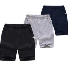 Crianças grandes shorts atacado 8-15 anos de idade crianças casual curto clássico três cores preto branco cinza estudante meninos moletom