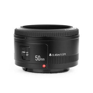 Image 3 - YONGNUO YN50MM F1.8 kamera Nikon için Lens D800 D5100 D5200 D5300 büyük diyafram AF MF DSLR kamera Lens için Sony ZV 1 RX100 VII