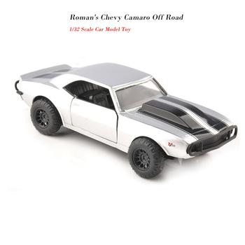 1 32 szybkie i wściekłe samochody Roman #8217 s Chevy Camaro imitacja metalu Model odlewu samochody dla dzieci tanie i dobre opinie Cute Panda 3 lat Diecast 1 32 Samochód
