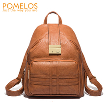 POMELOS Soft PU Leather Backpack Women 2019 New Function Bag Shoulder Schoolbag Designer Anti Theft Travel