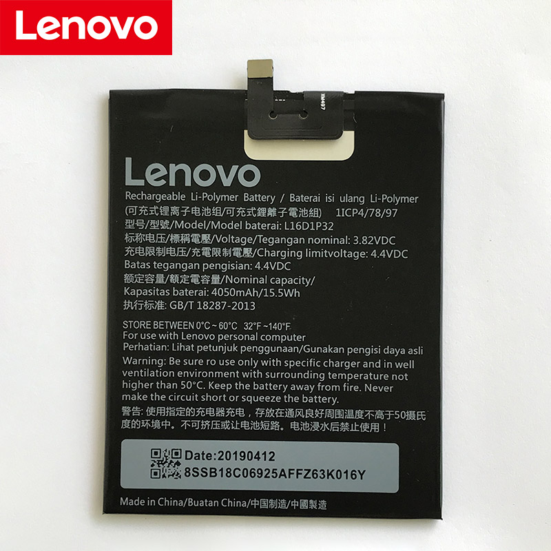 NEW Original 4050mAh L16D1P32 Battery For LENOVO  High Quality + Tracking Number