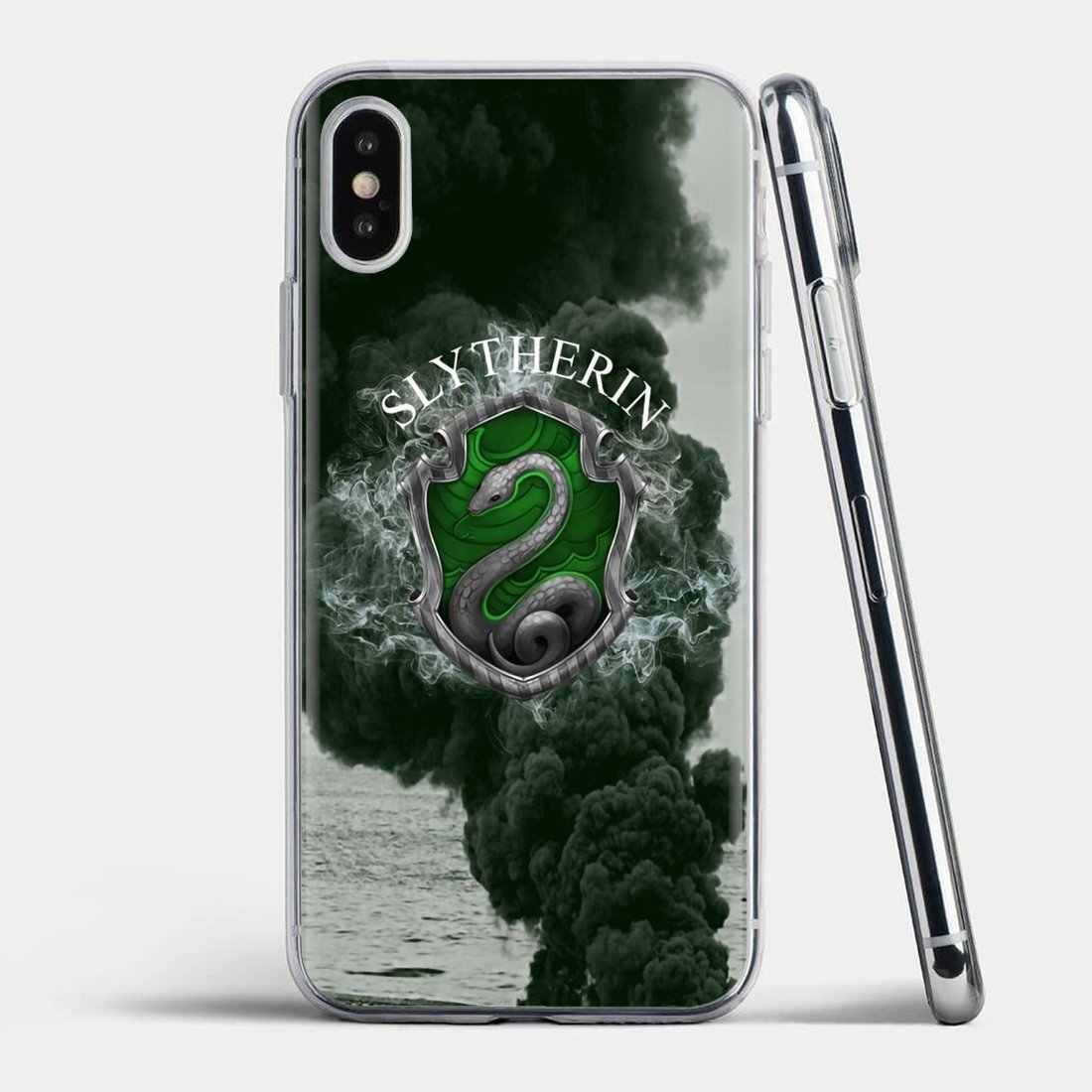Slytherin School For iPhone 11 Pro 4 4S 5 5S SE 5C 6 6S 7 8 X XR XS Plus iPod Touch 귀여운 실리콘 전화 케이스