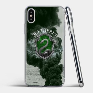 Slytherin School For iPhone 11 Pro 4 4S 5 5S SE 5C 6 6S 7 8 X XR XS Plus Max For iPod Touch Cute Silicone Phone Case(China)