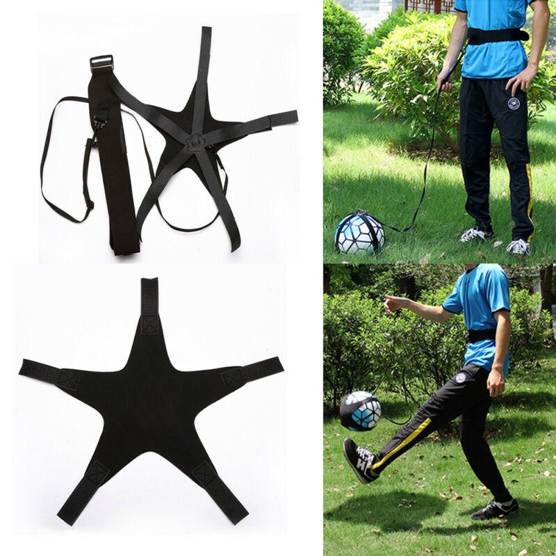 Adults Child Kids Football Self Training Kick Practice Trainer Adjustable Waist Belt Soccer Tools