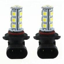 Светодиодный светильник 3 Вт DC12V белый 9005 9006 18SMD 5050 светодиодный лампы светодиодный светильник светодиодный потолочный светильник 3 Вт светодиодный Противотуманные фары дальнего света, комплект из 2 предметов