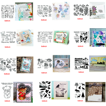 Popular Items Girls Flowers Words Animals Transparent Clear Stamps For DIY Scrapbooking Paper Cards Crafts New 2020 merry christmas words flower stripe hot sell hot foil plates for scrapbooking diy paper cards crafts decoration new 2019