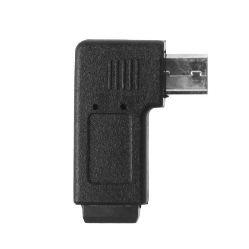 90 درجة اليسار واليمين بزاوية البسيطة USB 5Pin الإناث إلى المصغّر USB الذكور مزامنة بيانات محول Q81E