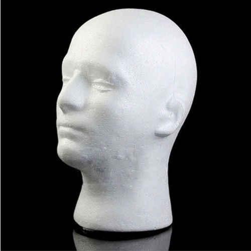Erkek manken strafor kafa modeli peruk gözlük şapka ekran standı hizmet