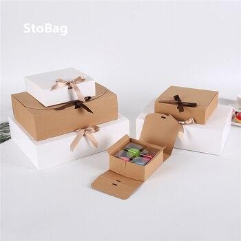 StoBag-Caja de regalo de galletas para hornear, embalaje de feliz camisa de Navidad, impresión personalizada de cumpleaños boda, 10 Uds.