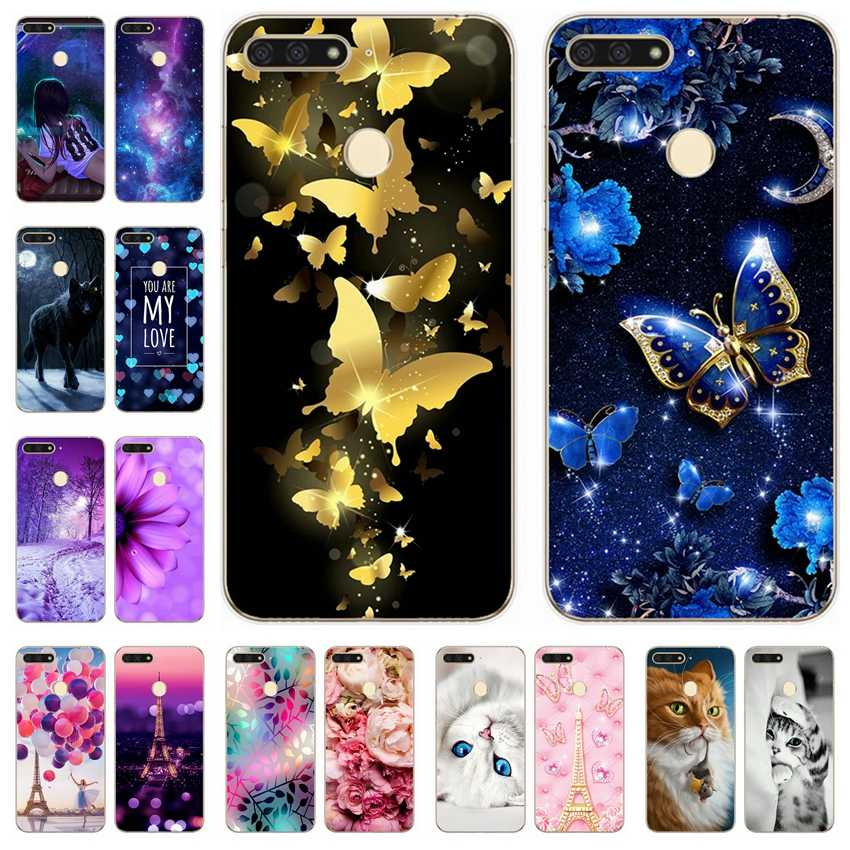 Silicone Cover For Huawei Honor 7A pro Case 5.7' Y6 2018 Cute Cases for Huawei Honor 7 A Honor7A pro 7Apro Y 6 2018 Fundas Coque