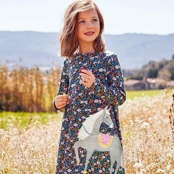 Little maven 2-7Years Baby Kids Girls Dress For Autumn New Children's Kids Girl's Long Sleeve Floral Print Beautiful Dress 1