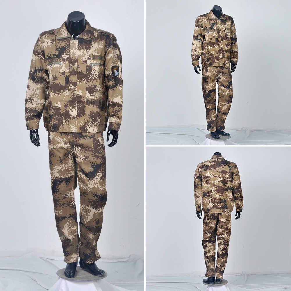 מרובה Mens Airsoft חליפת מכנסיים מעיל סט צבאי אחיד