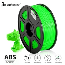 ABS Filament 1kg 3D Printer Material 1.75mm Diameter Tolerance  /-0.02mm Bubble Free High Strength Filaments Fast Delivery