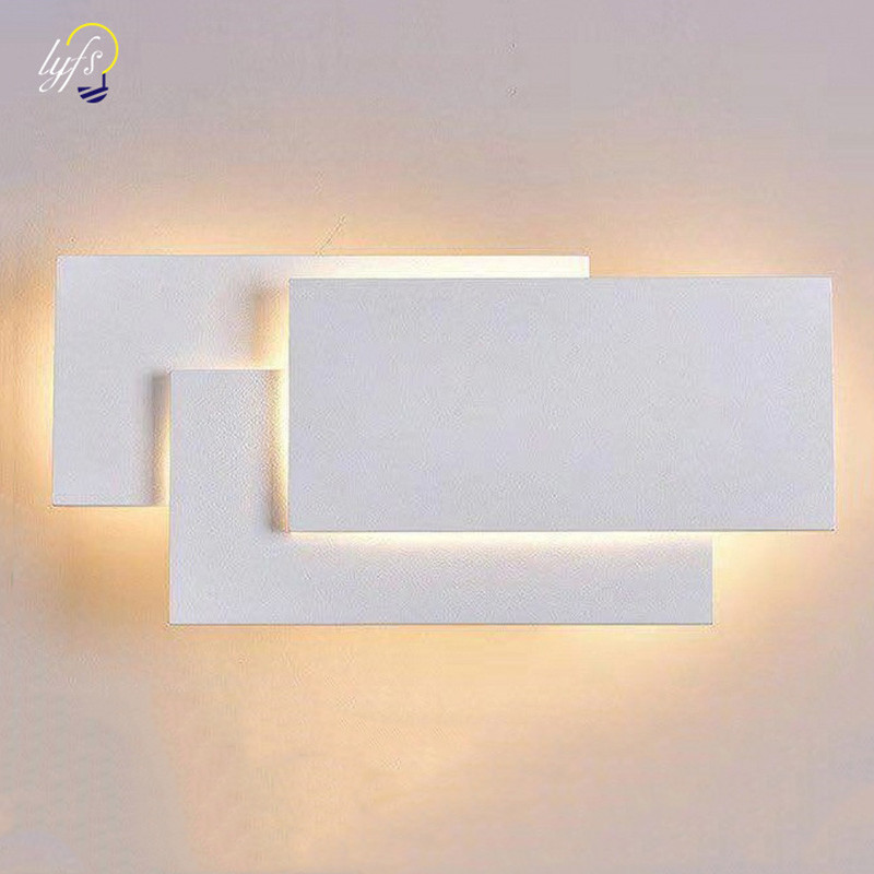 12W LED Wall Sconces Lighting Interior Wall Lamp Contemporary Mounted Lamp With Aluminum Shell For Indoor Bedroom Hotel Light