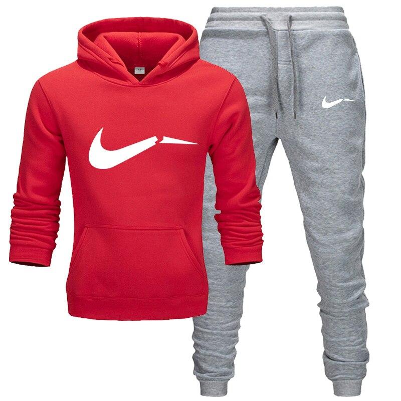 2019 New Fashion Hoodies Men Sport Suit JUST BREAK IT Sweatshirt +Sweatpants Suits Casual Long Sleeve Pullover Hoodie Clothing