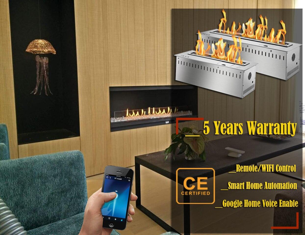 Inno living Fire 48 cali 1.2M nowoczesny kominek kryty używany palnik na bioetanol elektryczny w Kominki od Majsterkowanie na title=