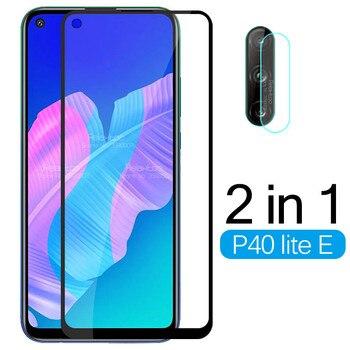 Перейти на Алиэкспресс и купить 2 в 1 закаленное стекло для Huawei P40 lite E Защитная пленка для объектива камеры для Huawei P 40 lite light E 40 lite E защитная пленка