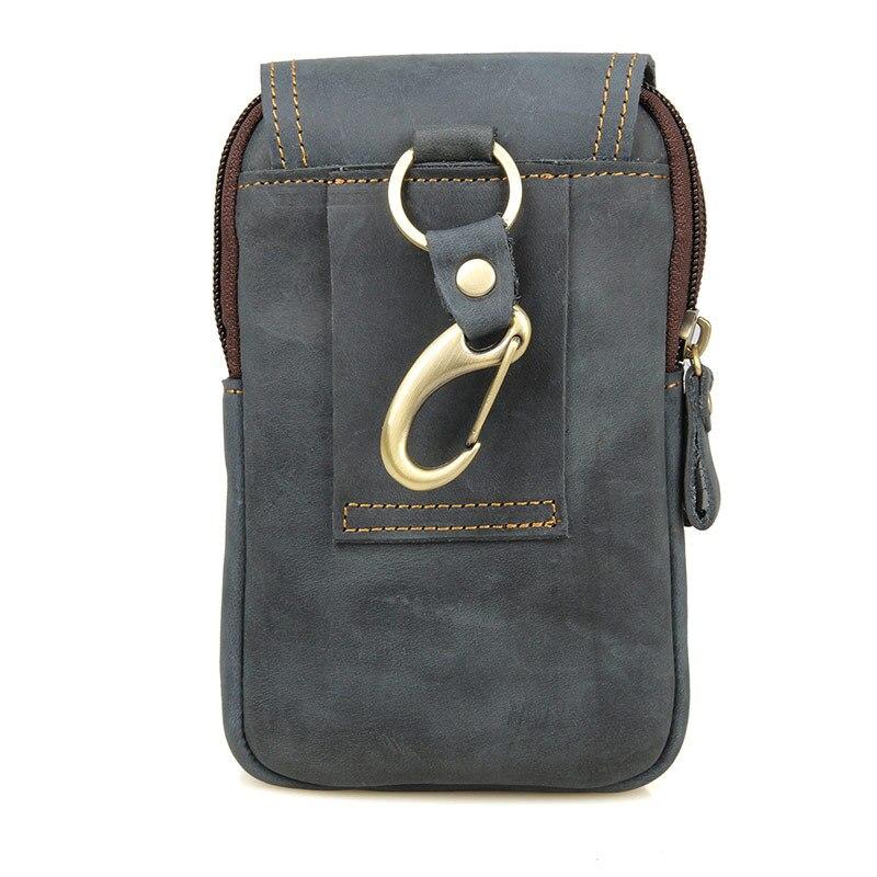 Мужская сумка из натуральной кожи с ремнем для путешествий - 3