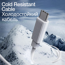 GENAI Kalt Beständig USB C Kabel Für Smartphones Typ C Kabel Schnelle Ladekabel Ladegerät Für Handys Flüssigkeit Silikon kabel