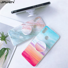 Grip Stand Holder Marble Phone Cases For Huawei P30 Lite P20 Pro Mate 20 30 Lite P30 P40 Pro P40 Lite Case Soft TPU Back Shell plating tpu phone case for huawei p20 pro p30 pro p40 gloryv20pr pro soft silicone upscale phone cases mobile phone accessories