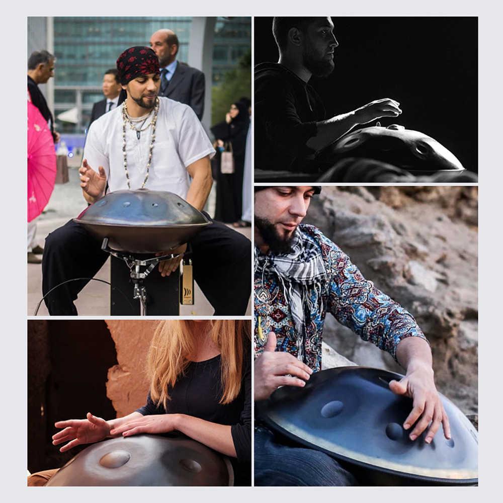 Buatan Tangan Kinerja Suara Penyembuhan Handpan Alat Musik Hadiah Instrumen Perkusi Aksesoris dengan Drum Tas