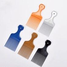 1 pc escova de dentes largos picareta pente garfo escova de cabelo inserção picareta pente plástico engrenagem pente para encaracolado afro ferramentas estilo cabelo