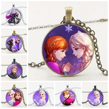 2019 3 Color Brand Ladies Long Chain Jewelry Necklace Beautiful Crystal Princess Cute Boy and Other Comic Cartoon Avatar Badge стоимость