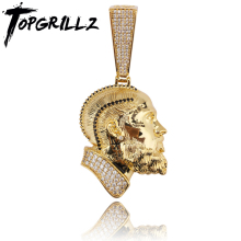 TOPGRILLZ R.I.P Nipsey Hussle Necklace & Pendant With Tennis Chain Iced Out Bling Cubic Zircon Shining Mens Hip Hop Jewelry