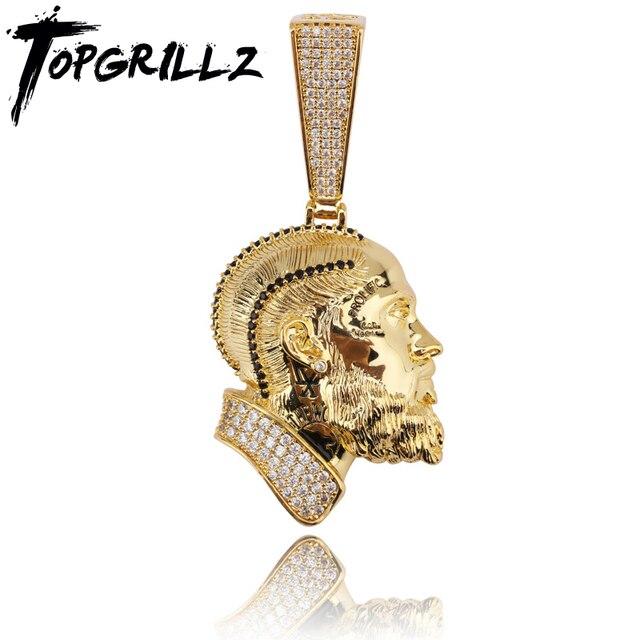 TOPGRILLZ collier et pendentif Nipsey, R.I.P Nipsey, avec chaîne de Tennis glacée, en Zircon cubique brillant, bijoux Hip Hop pour hommes
