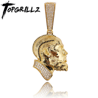 TOPGRILLZ R.I.P Nipsey Hussle Necklace & Pendant With Tennis Chain Iced Out Bling Cubic Zircon Shining Men's Hip Hop Jewelry