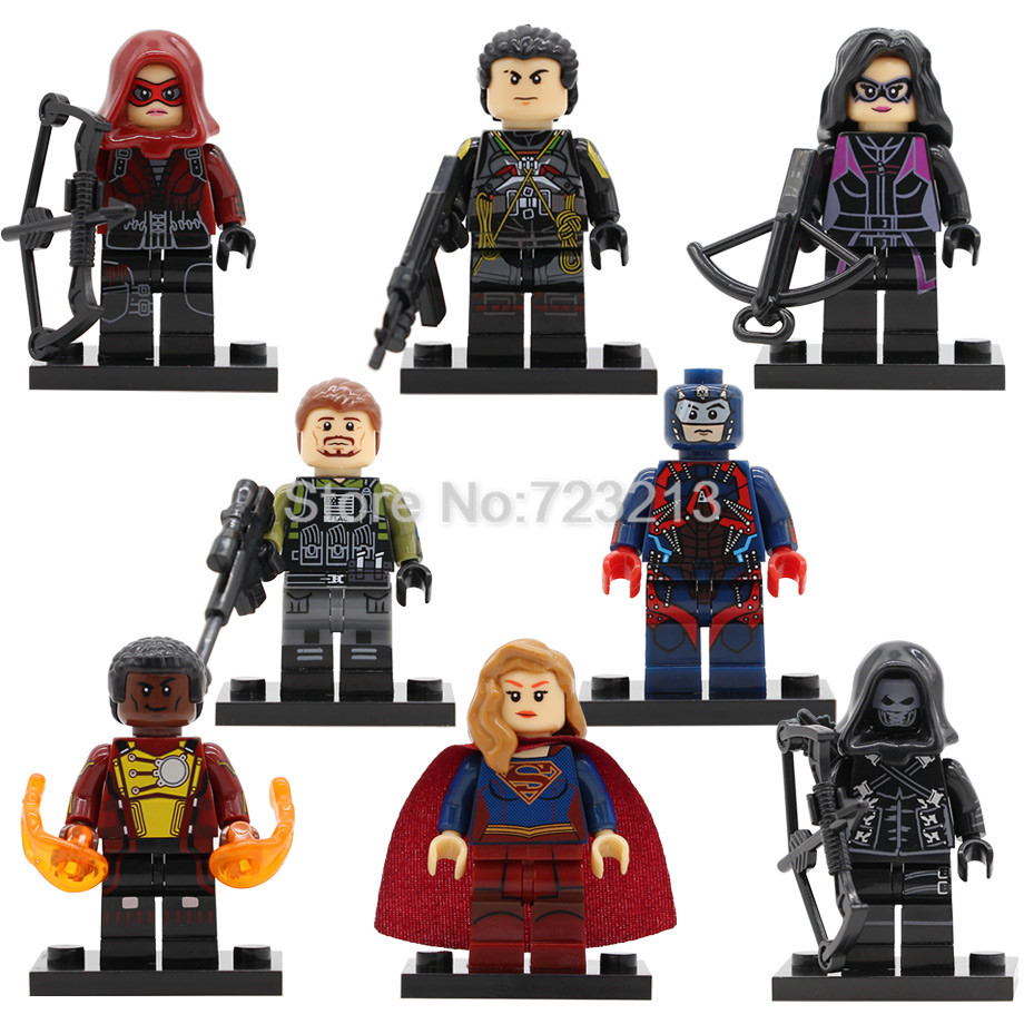 Super Hero Figure Prometheus Slipknot Surgirl Huntress Rick Flag Emiko Queen Building Blocks Set Model Bricks Toys Legoing
