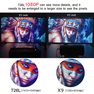 Image 2 - Touyinger t26l t26k 1080p led completo hd projetor vídeo beamer 5800 lúmen fhd 3d cinema em casa hdmi (android 9.0 wifi opcional)