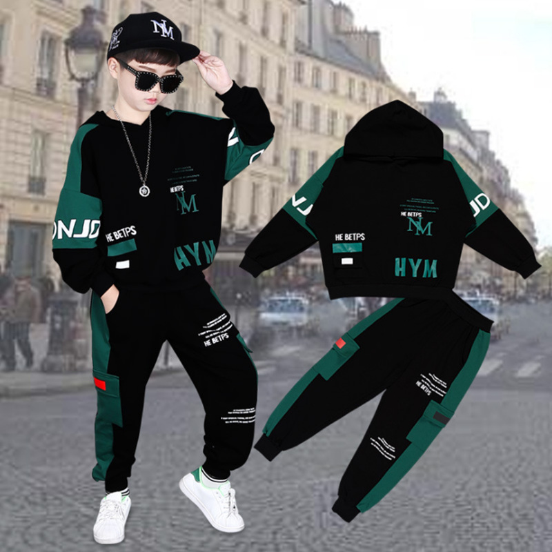 2021 Spring Autumn Kids Clothes Boys 3 4 5 6 7 8 9 10 11 12 14 Years Boys Clothing Set Sports Suit Boys Hooded Jacket And Pants 5
