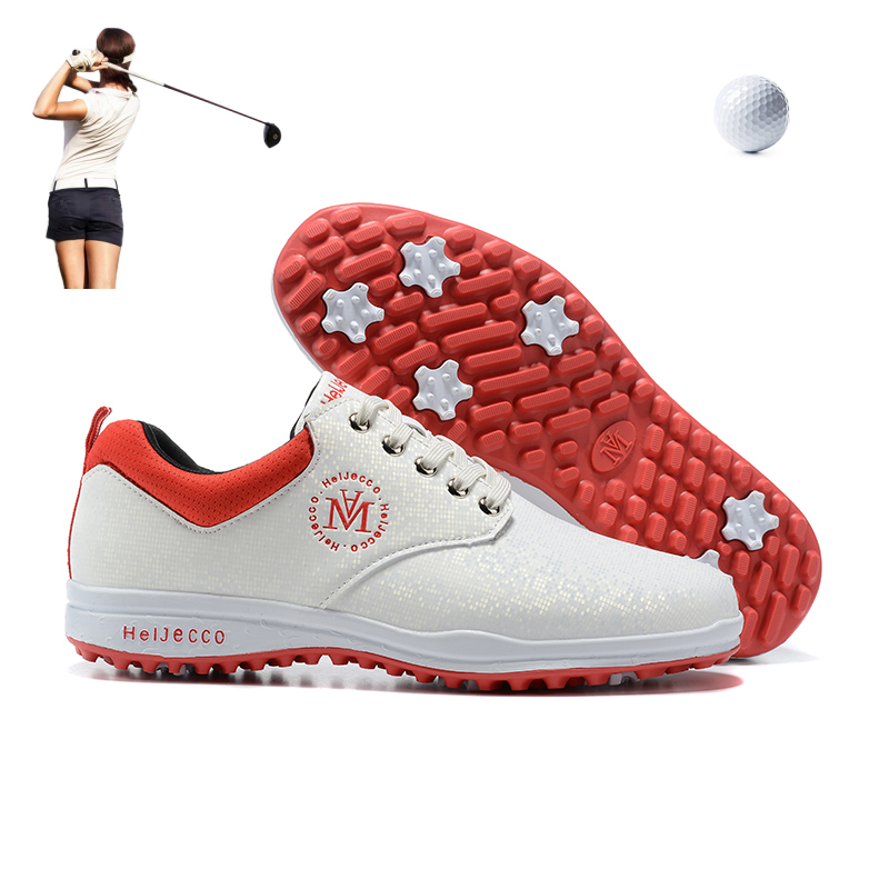 Comfortable Golf Shoes for Women Lightweight Professional Golfer Sneakers Outdoor Sports Sneakers Turf Spikes Footwear