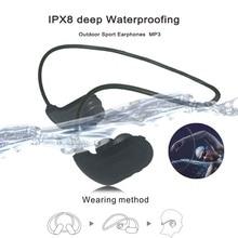 Fashion Outdoor Sport Earphones IPX8 Waterproof Swimming MP3 Player 8GB Outdoor Sport Earphones For Diving Running  Walkman MP3 w273 bluetooth mp3 real 8gb sport mp3 player w273 stereo headset wireless mp3 headphone walkman running mp3 player for sony