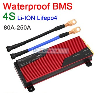 DYKB Waterproof BMS 4S 12V 80A 100A 120A 200A 250A  LiFePO4 Li-ion 18650 lithium battery Protection Board with balance 3.2V 3.7V