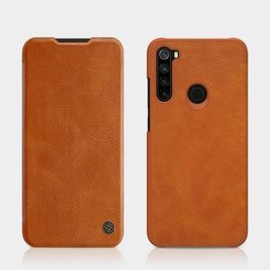 Image 2 - Caes Xiaomi Redmi 注 8 Note8 プロ Nillkin 秦シリーズ Pu レザーフリップ Redmi 注 8 ケース
