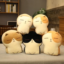 cat pet cushion pillow toast plush toys with micro blog toys toast slices cushion kawaii plush toys for children kawaii kids toy Toast Cat Plush Pillow Toy Bread Bolster Animal Cushion Stuffed Peluche Doll Cute Cats Peluches Toys for Girls Gift Sofa Decor