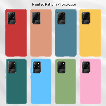 Soft Silicone Full Cover Case for Galaxy A71 A70 A10 A10e A20 A20e Candy Color Phone Case for Samsung A51 A50 A50S A40 A30 A30S image