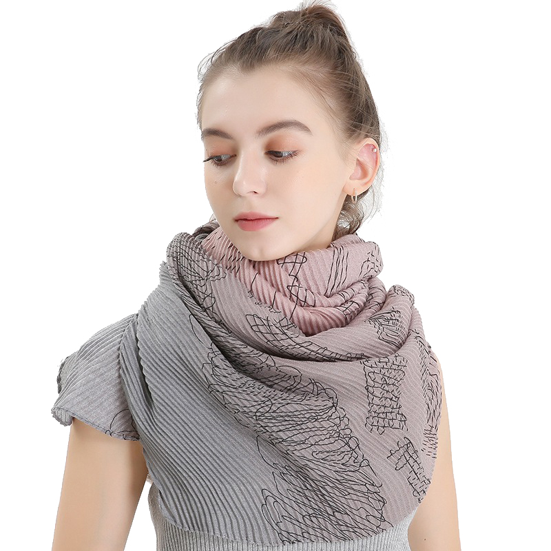 <font><b>180*90CM</b></font> crinkle scarf for women cotton linen gradient twill pashminas scarves elegant lady <font><b>bufandas</b></font> invierno mujer image