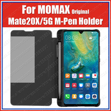 MOMAX מותג Mate20 X 5G HUAWEI M עט Stylus חריץ מקרה עם עיפרון MATE מחזיק 20X Stand Flip כיסוי