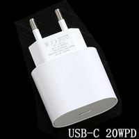 Original 20W PD USB-C cargador de adaptador de corriente de enchufe de la UE 18W cargador rápido para iPhone 11 12 mini pro max 8 plus X XS X SE 2020 IPOD IPAD