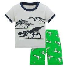 Пижама для мальчиков футболка с коротким рукавом и шорты из