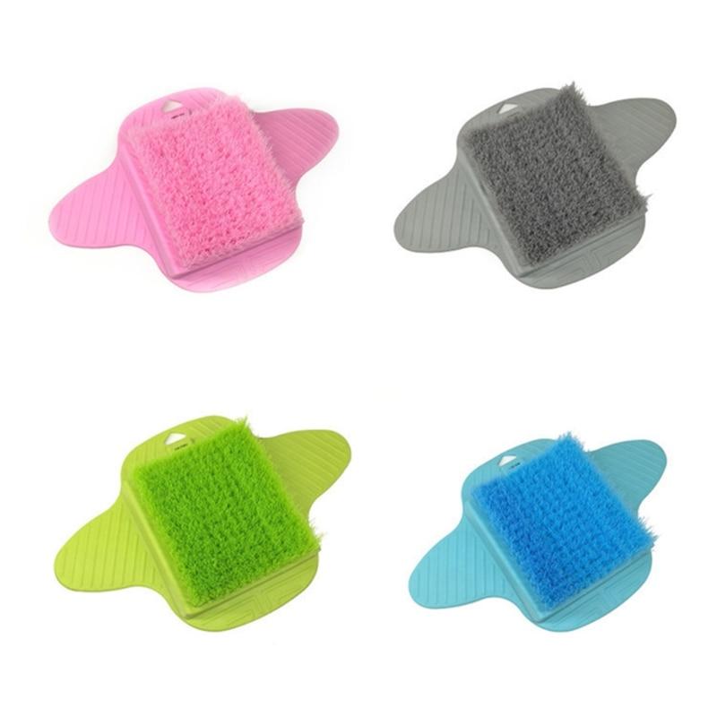 banho de plastico chuveiro pe escova purificador sapato de banho pes massagem chinelos escova esfoliante spa