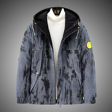 Outerwear Down-Jacket Korean-Style Winter Mens New Warm Thick Hooded Letter-Print