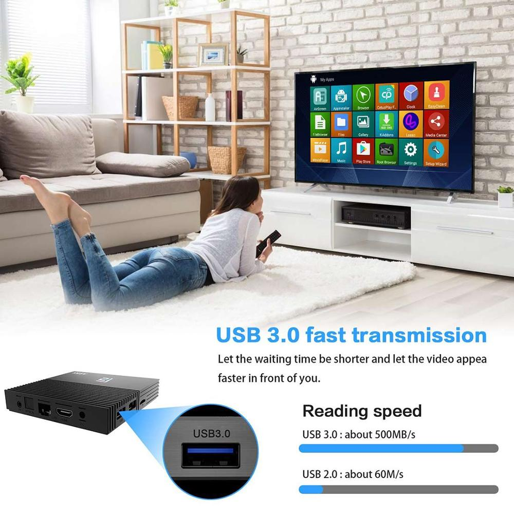 Image 5 - A95X F2 4K Smart TV Box Android 9.0 Box TV 4GB 64GB Amlogic S905X2 2.4G/5G Wifi BT4.2 Voice Control Remote Google TV PK Mi Box-in Set-top Boxes from Consumer Electronics