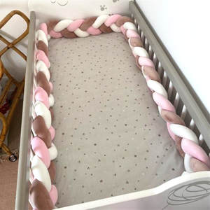 1M/2M/3M Baby Bed Bumper in the crib Kids For Newborn Baby Pillow Cushion Cot Infant Knot Things Protector