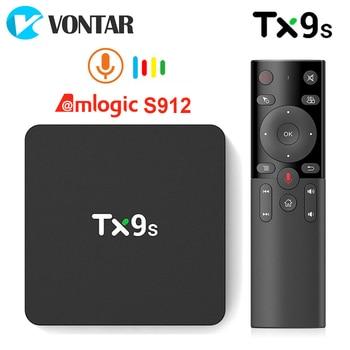 TX9s Android Smart TV Box Amlogic S912 2GB 8GB 4K 60fps TVBox 2.4G Wifi 1000M Google Assistant Voice tanix tx9s tv box