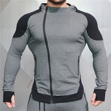 Куртка для бега и тренировок Мужская одежда бодибилдинга толстовка